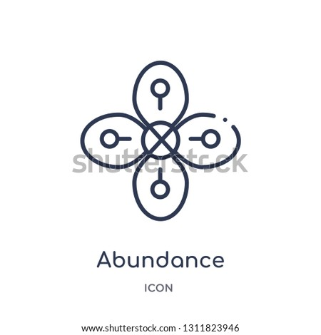 abundance icon from zodiac outline collection. Thin line abundance icon isolated on white background.