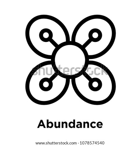 Abundance icon isolated on white background, vector illustration, abundance logo concept
