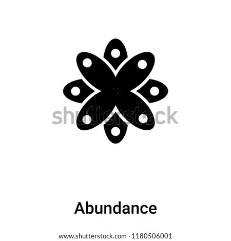 Abundance icon vector isolated on white background, logo concept of Abundance sign on transparent background, filled black symbol