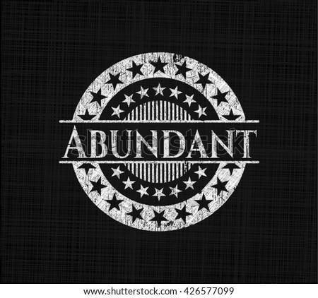 Abundant chalk emblem, retro style, chalk or chalkboard texture