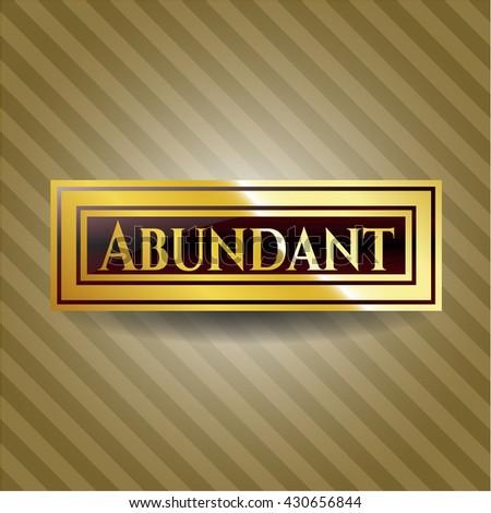 Abundant gold badge or emblem