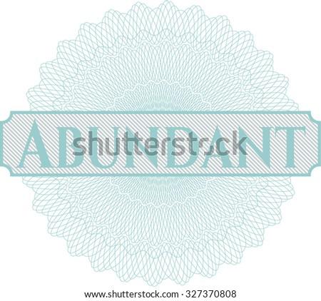 Abundant money style rosette