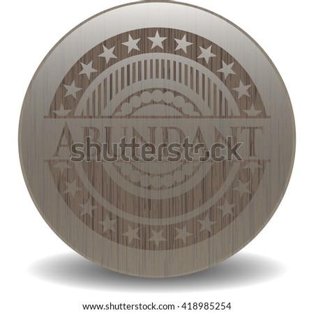 Abundant retro style wooden emblem