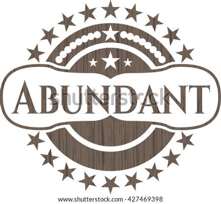 Abundant wooden emblem