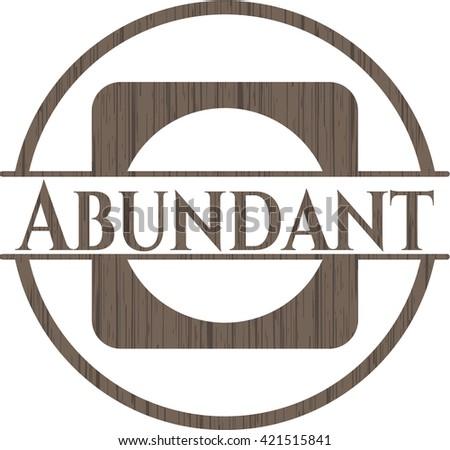 Abundant wooden emblem. Retro