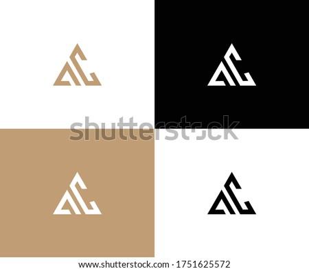 ac logo design vector format Foto stock ©