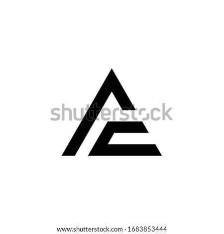 AC logo is a little explanation of the concept of the logo: a unique AC letter with clean, clear, thick, and elegant lines Foto stock ©