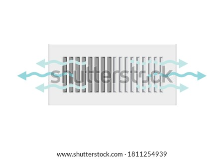 AC Vent, Home Cooling Cooling Vent Icon Vector Illustration Background Photo stock ©