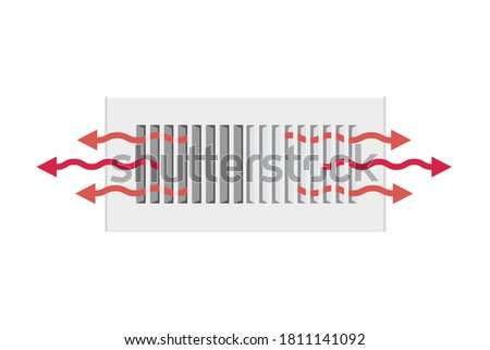 AC Vent, Home Heating Vent, Heater Icon, Air Duct, Hot Air Duct, Air Condition Vent, AC Cool Air, HVAC System, Vector Illustration Background Photo stock ©