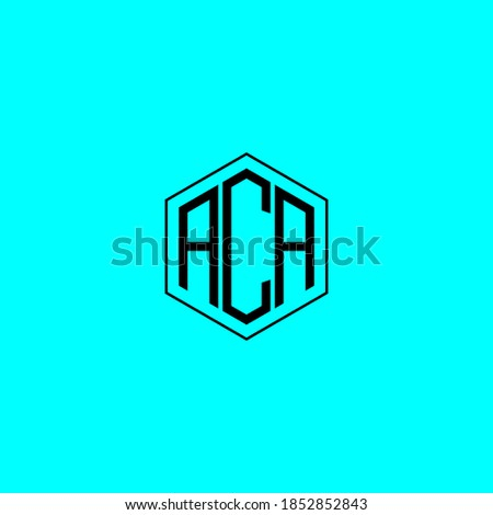 ACA letter icon design on blUE background. Creative letter ACA/A C A logo design. ACA initials Logo design Imagine de stoc ©