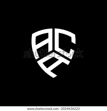 ACA Unique abstract geometric vector logo design Imagine de stoc ©