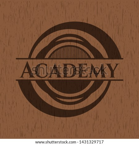 Academy wood signboards. Vector Illustration.