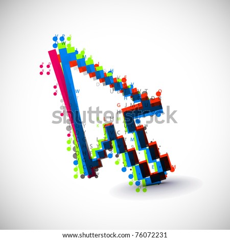 acbtract colorful vector coumputer mouse symbol.