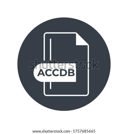 ACCDB file format icon. Microsoft Access file format filled icon.