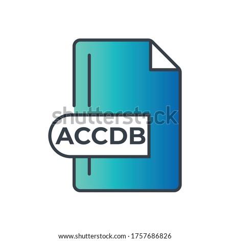 ACCDB file format icon. Microsoft Access file format gradiant icon.