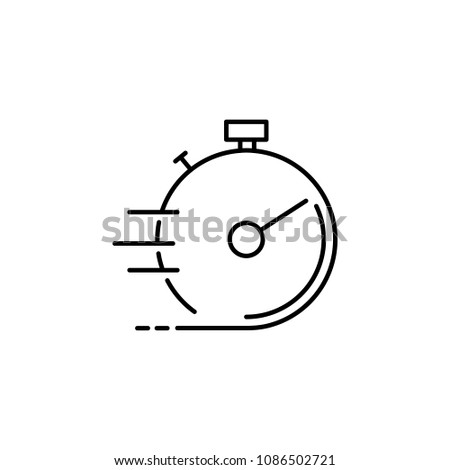 accelerated stopwatch icon. Element of speed for mobile concept and web apps illustration. Thin line icon for website design and development, app development. Premium icon on white background