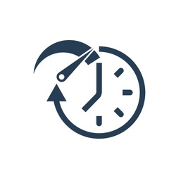 Acceleration. Time Speed Boost. Vector icon on a white background.
