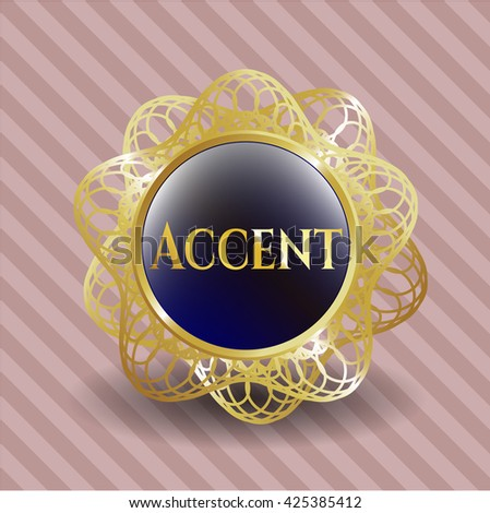 Accent gold shiny badge