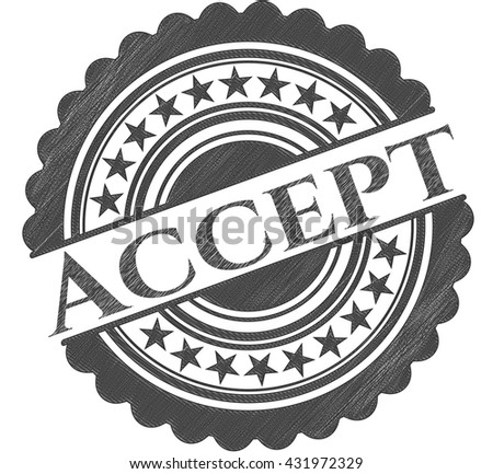 Accept emblem drawn in pencil