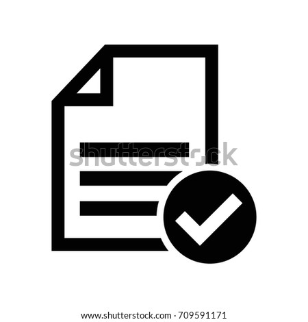 accept file or checklist symbol icon Stock photo ©