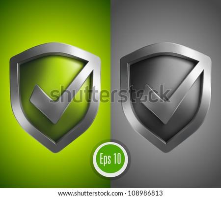 Accept green shield icon