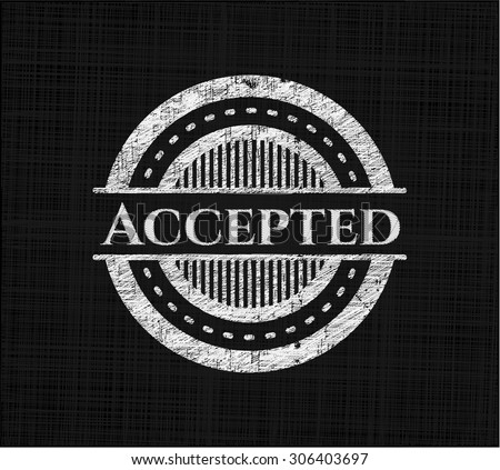 Accepted chalkboard emblem
