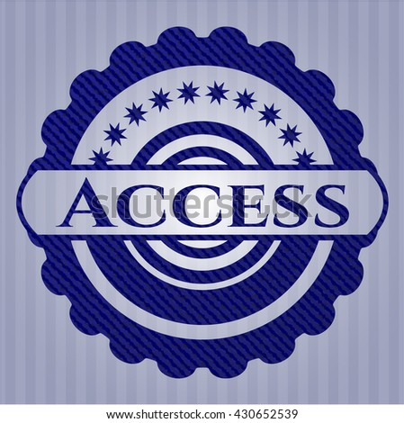 Access badge with denim background