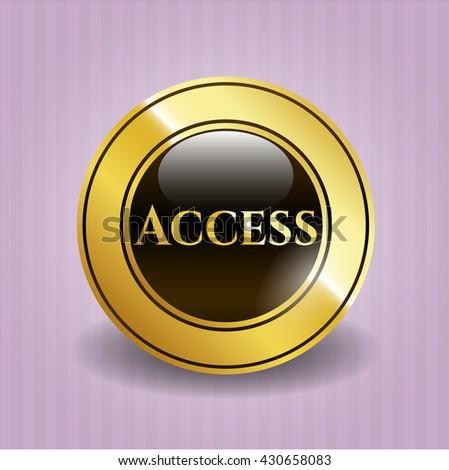 Access gold emblem or badge