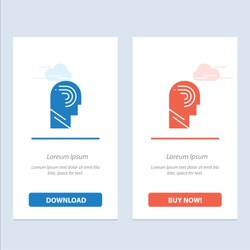 Access, Human, Manipulate, Mind, Switch  Blue and Red Download and Buy Now web Widget Card Template. Vector Icon Template background