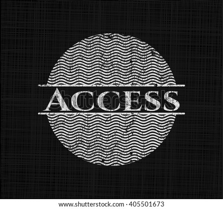 Access with chalkboard texture