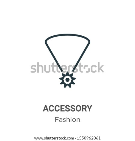 Accessory vector icon on white background. Flat vector accessory icon symbol sign from modern fashion collection for mobile concept and web apps design.
