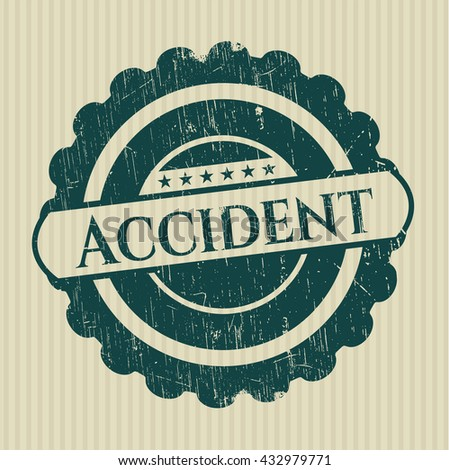 Accident rubber stamp