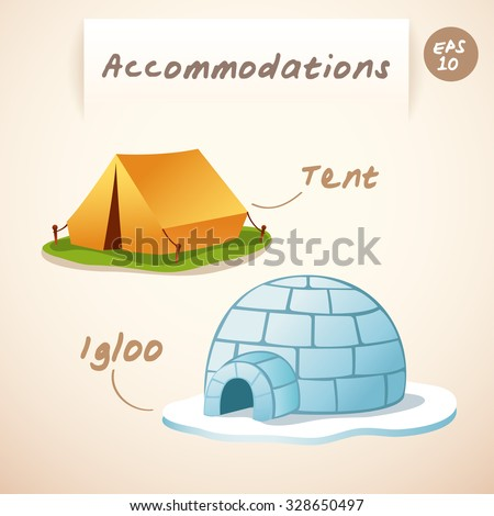 accommodations   igloo and tent