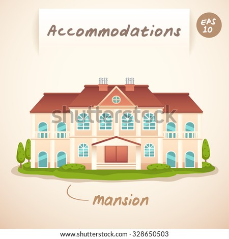 Accommodations : Mansion : Vector Illustration