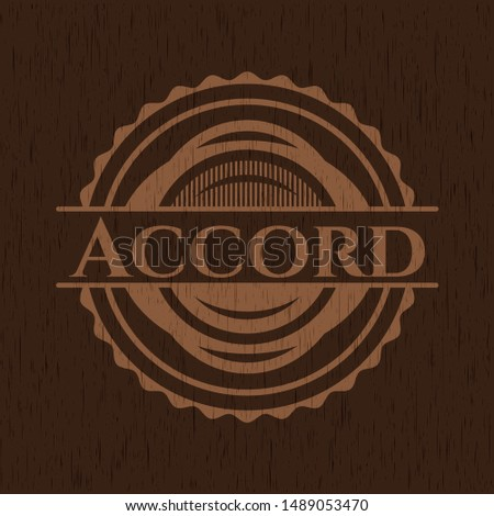 Accord wooden signboards. Vector Illustration.