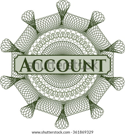 Account abstract linear rosette