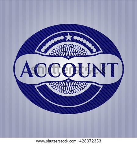 Account badge with denim texture