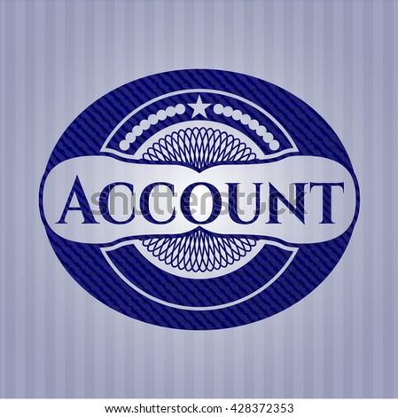 Account badge with denim texture