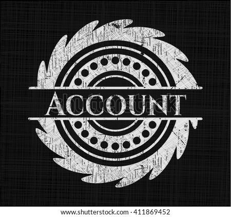 Account chalk emblem