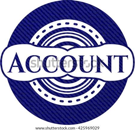 Account denim background