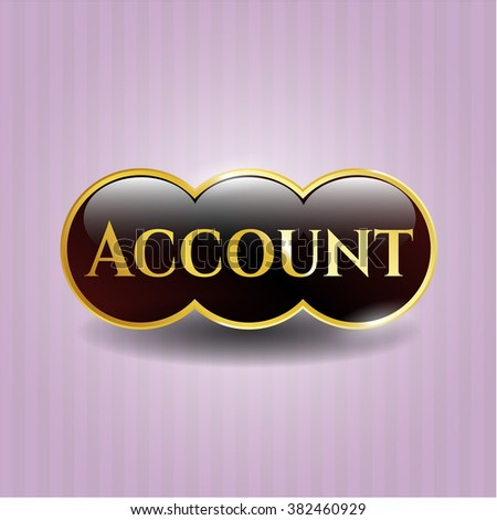 Account golden emblem or badge