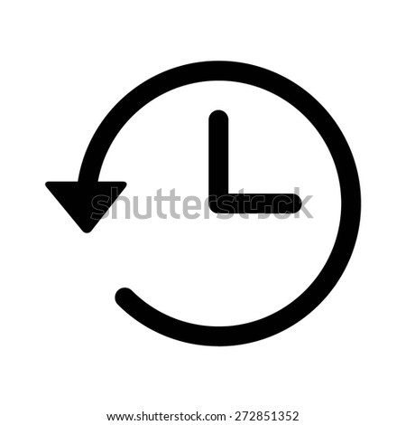 Account history line art vector icon for apps and websites