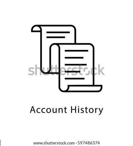 Account History Vector Line Icon