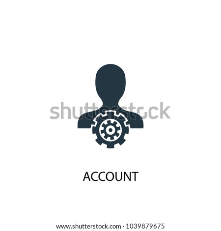 Account icon. Simple element illustration. Account concept symbol design from Accounting collection. Can be used for web and mobile.