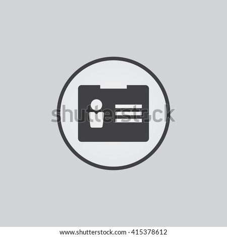 Account icon vector, user solid illustration, pictogram isolated on gray