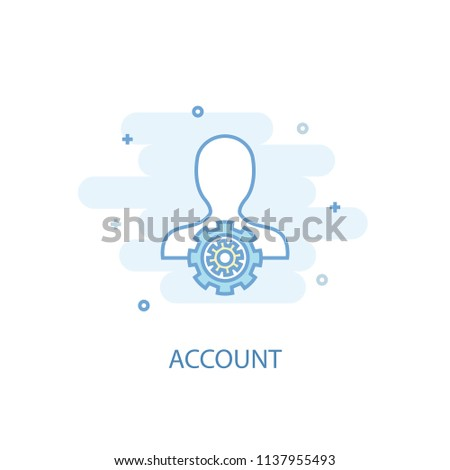Account line trendy icon. Simple line, colored illustration. Account symbol flat design from Accounting set. Can be used for UI/UX