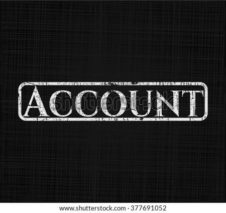 Account on chalkboard