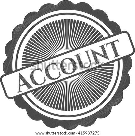 Account pencil strokes emblem