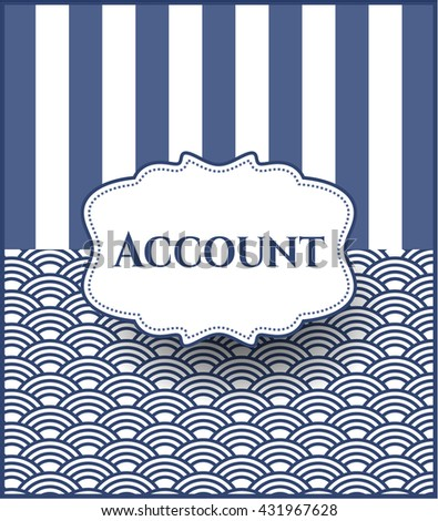 Account poster or banner