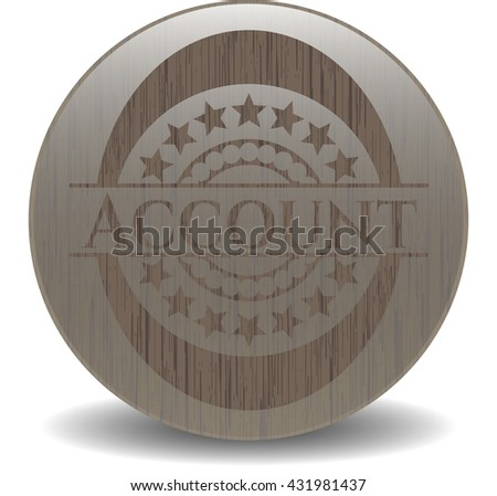Account realistic wood emblem